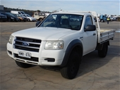 Unreserved 2007 Ford Ranger XL (4x4) PJ T/D Cab Chassis