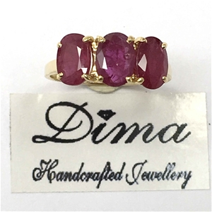 18ct Yellow Gold, 3.16ct Ruby Ring