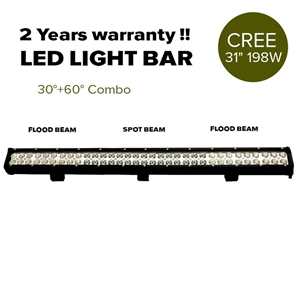 "31"" 198W Cree LED Light Bar Spot Floodli"