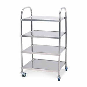 SOGA 4 Tier S/S Kitchen Dining Food Cart