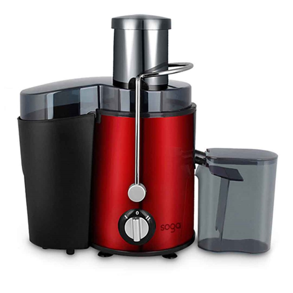 SOGA Juicer 1000w Stainless Steel Whole Fruit Vegetable Juice Extractor Red