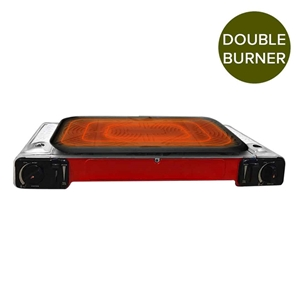 Portable Double Gas Butane Cooker with N