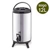 SOGA 12L Portable Insulated Cold/Heat Barrel Brew Pot With Dispenser