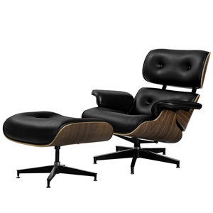 Peachy Artiss Replica Eames Lounge Chair Ottoman Recliner Armchair Leather Black Pabps2019 Chair Design Images Pabps2019Com