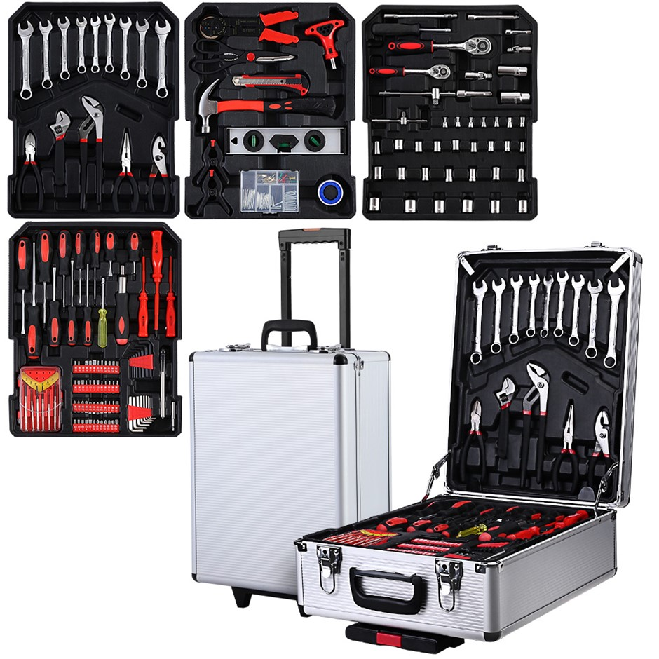 Giantz 802pcs Tool Kit Trolley Case Mechanics Toolbox Portable DIY Set SL