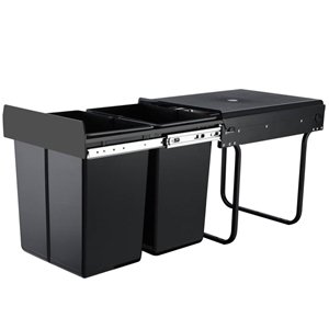 2X20L Pull Out Bin Kitchen Double Dual T