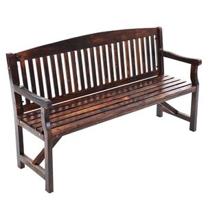 Garden Bench Chair 3 Seater Natural Wood