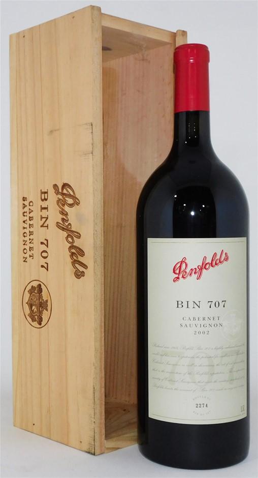 Penfolds `Bin 707` Cabernet Sauvignon 2002 (1 x 1.5L Magnum) SA.