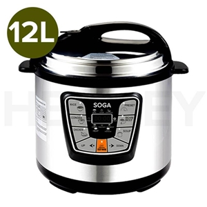 SOGA Electric Pressure Cooker 12L Stainl