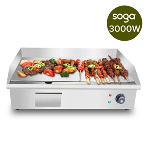SOGA Electric Stainless Steel Flat Gridd