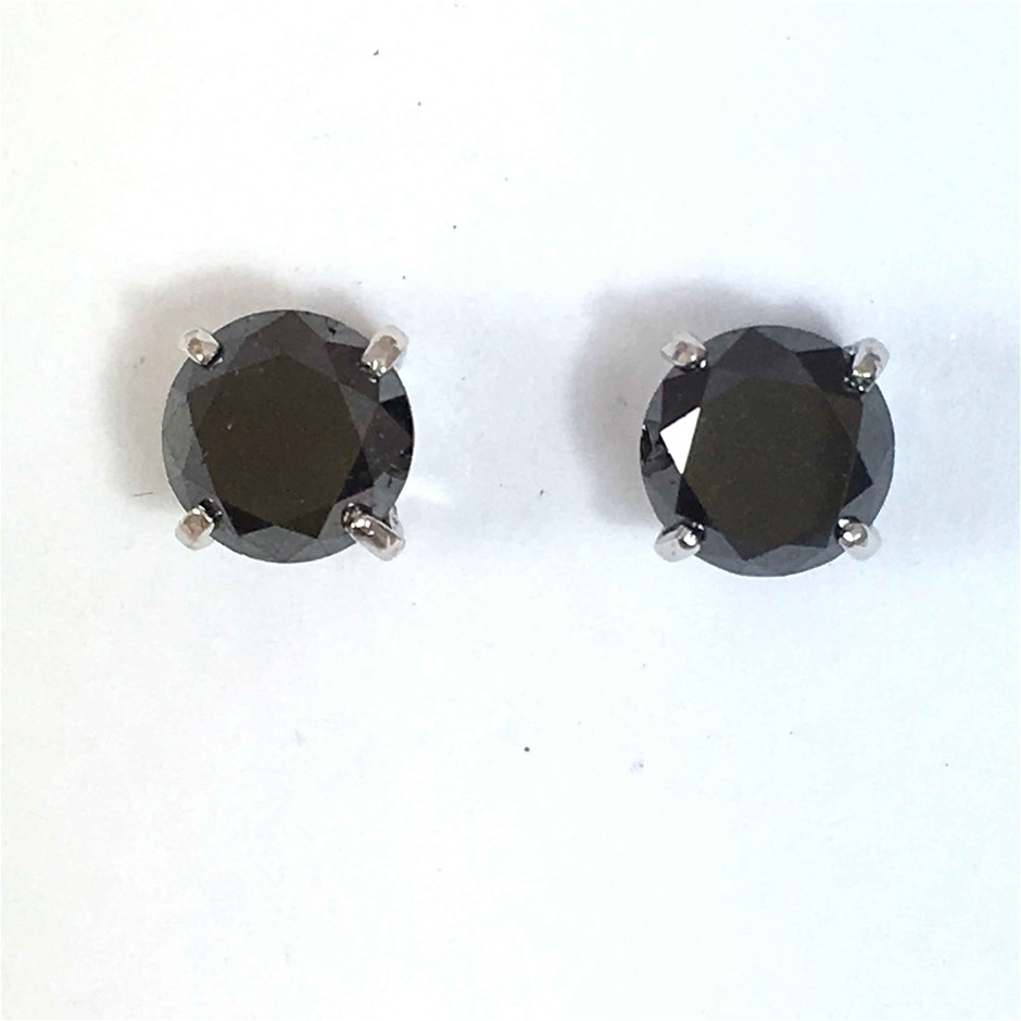18ct White Gold, 3.60ct Diamond Earring