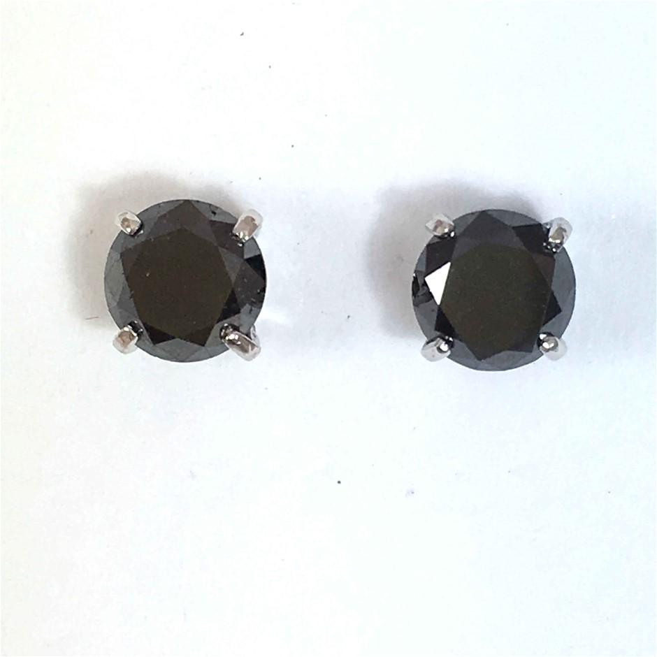 18ct White Gold, 3.60ct Diamond Earring