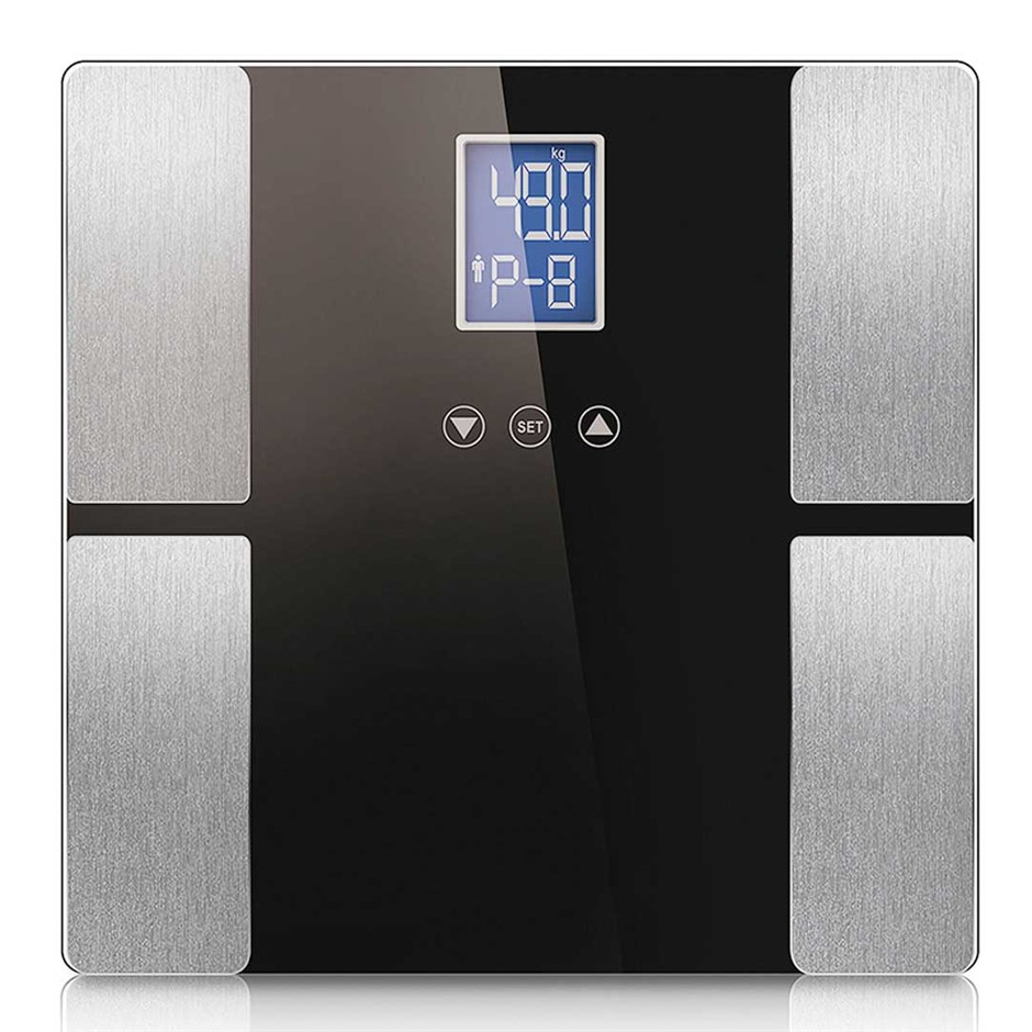 SOGA Black Digital Body Fat Scale Bathroom Scales Weight Water LCD