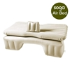 Inflatable Car Mattress Travel Camping Air Bed Rest Sleeping Bed Beige