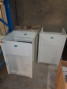3 Steel Single Door Laundry Troughs