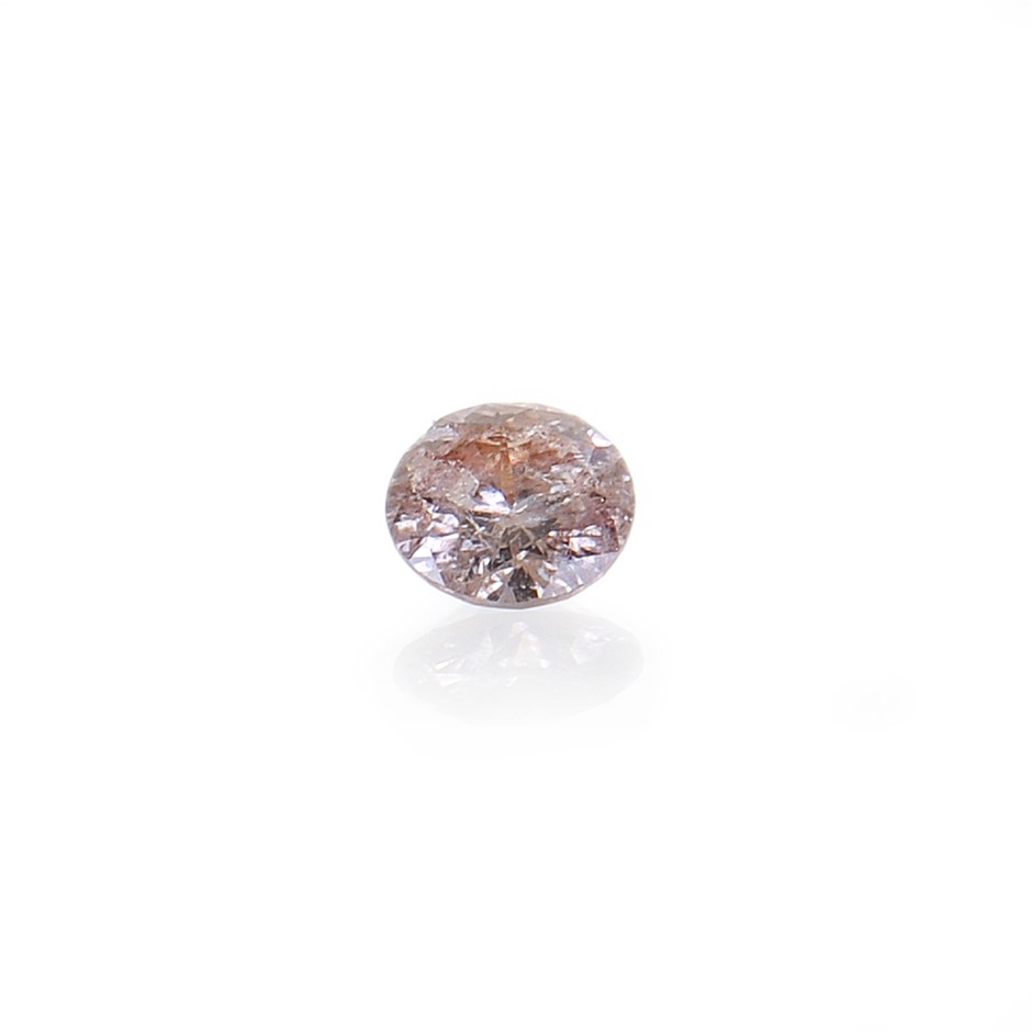 0.04ct Light pink natural diamond