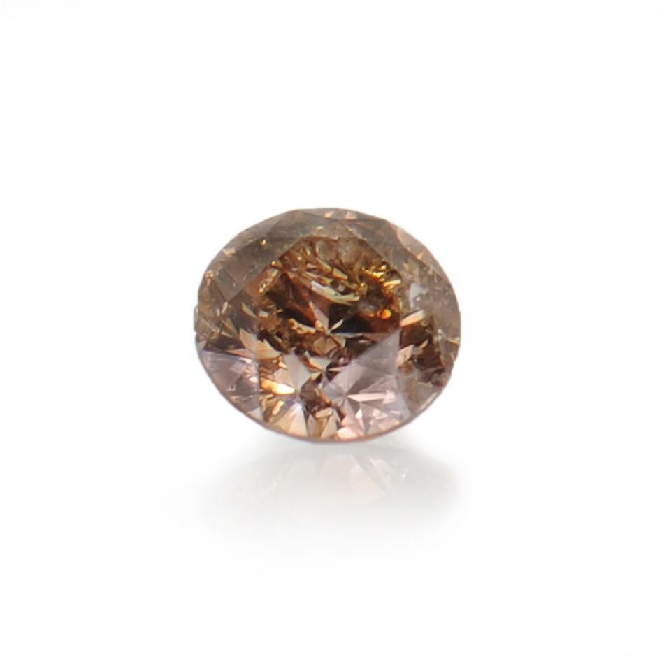 0.13ct Cognac natural diamond