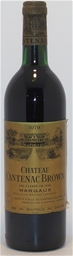 Chateau Cantenac Brown 3er Grand Cru Margaux 1979 (1x 750ml),Bordeaux. cork