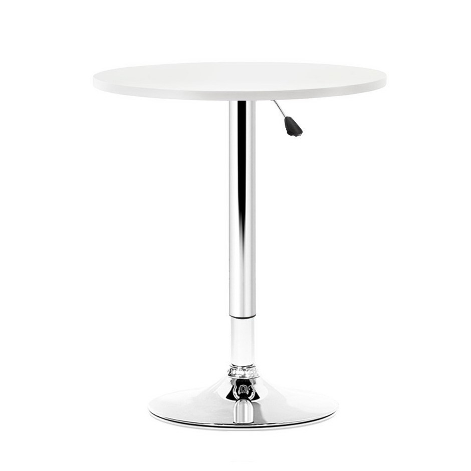Artiss Bar Table Gas Lift Adjustable Cafe Banquet Tables Pub Metal White