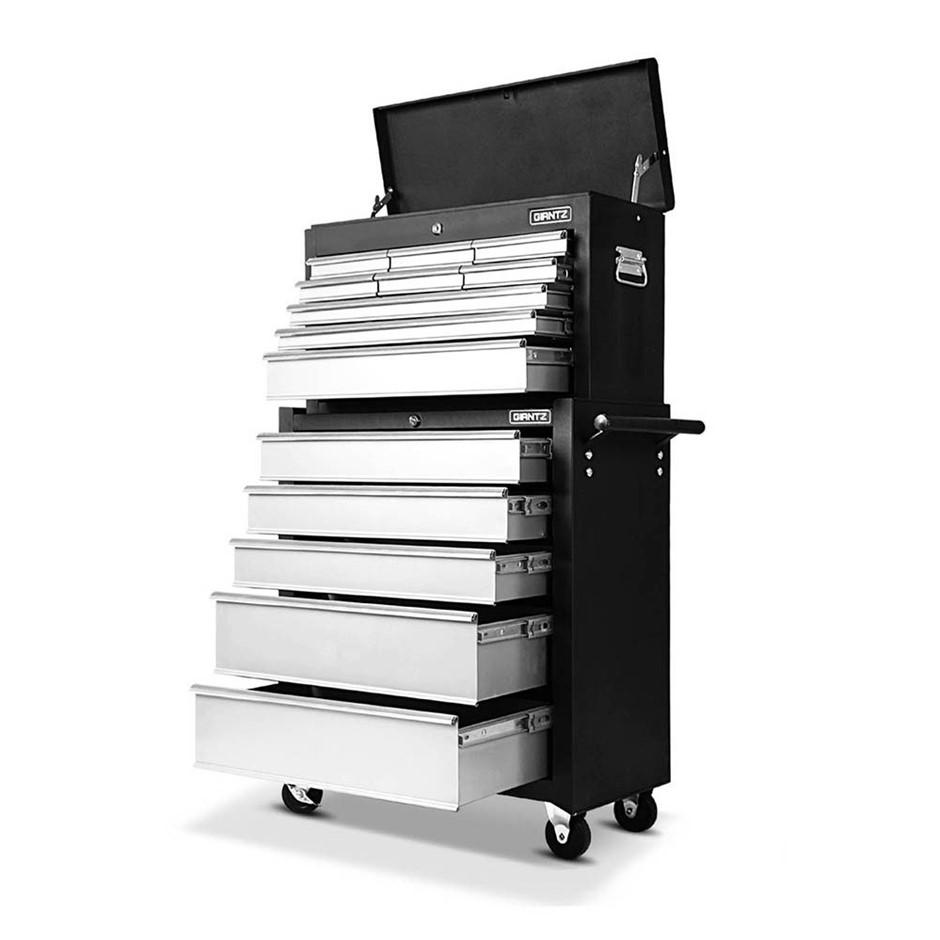 Giantz 14 Drawers Tool Box Cabinet Mechanic Trolley Garage Toolbox storage