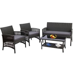 Gardeon Outdoor Furniture Rattan Set Wic