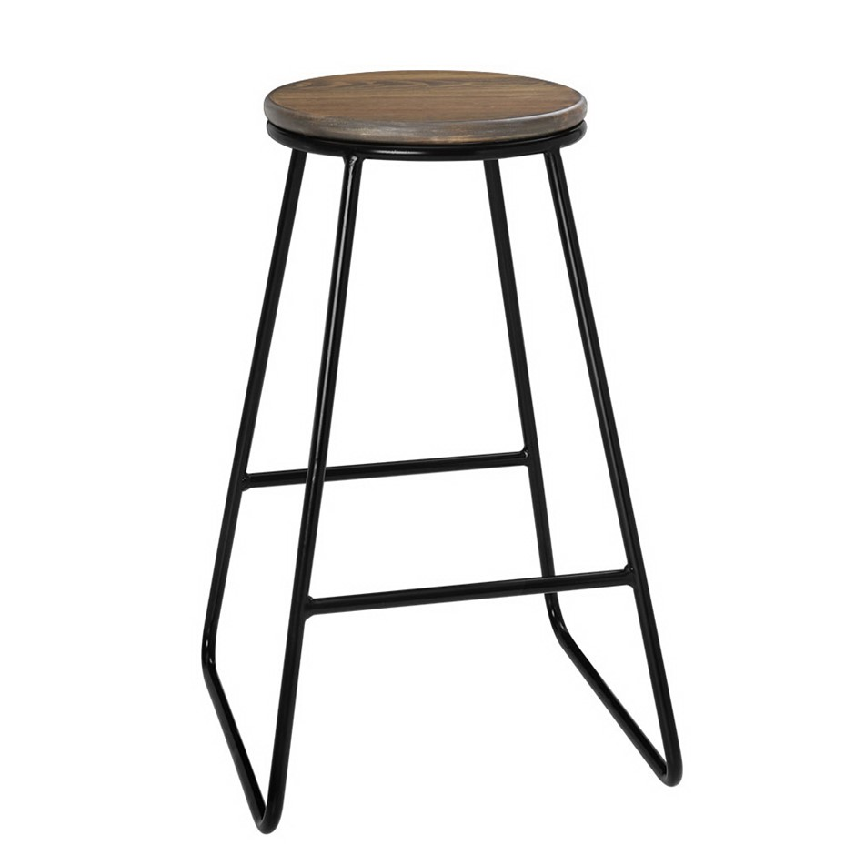 Artiss 4x Vintage Bar Stools Rustic Retro Industrial Kitchen Chairs