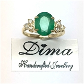 Dima Handcrafted 18 Karat Emerald Collection