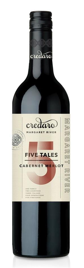 Credaro Five Tales Cabernet Merlot 2016 (12 x 750mL), Margaret River, WA.