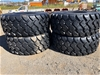 Qty of 4 x Unused 26.5R25 Radial Earthmoving Tyres