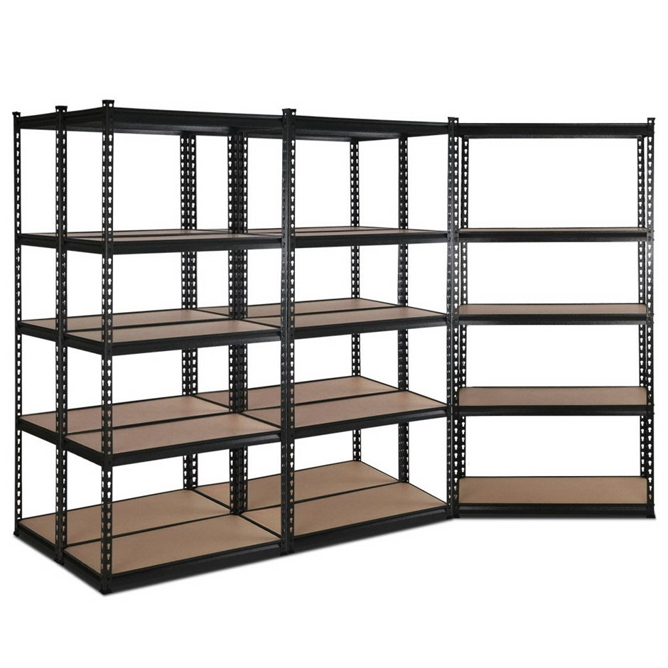 Giantz 5x90CM Steel Warehouse Shelving Racking Garage Storage Grey