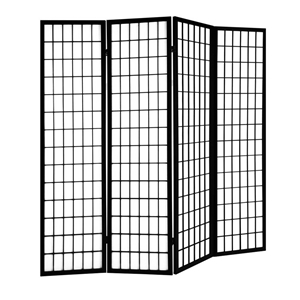 Pleasant Artiss 6 Panel Room Divider Screen Wooden Timber Black Fold Stand Privacy Download Free Architecture Designs Embacsunscenecom