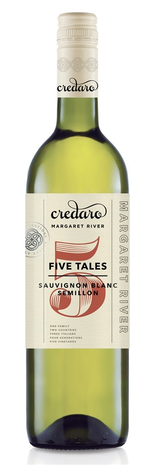 Credaro Five Tales Sauvignon Blanc Semillon 2018 (12 x 750mL), WA.