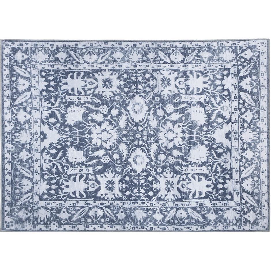 Artiss Short Pile Floor Rug 120x170 Area Large Vintage Carpet Soft Blue