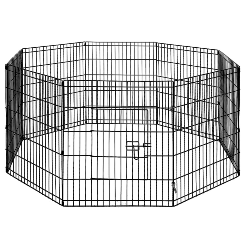 i.Pet 30inch Pet Play Pen - Black