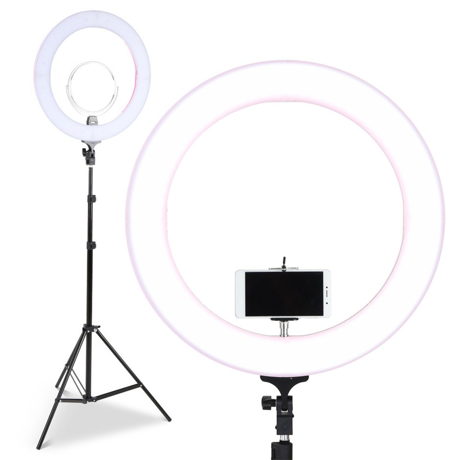 "Embellir 19"" LED Ring Light Dimmable Diva Stand MakeUp Studio Video"