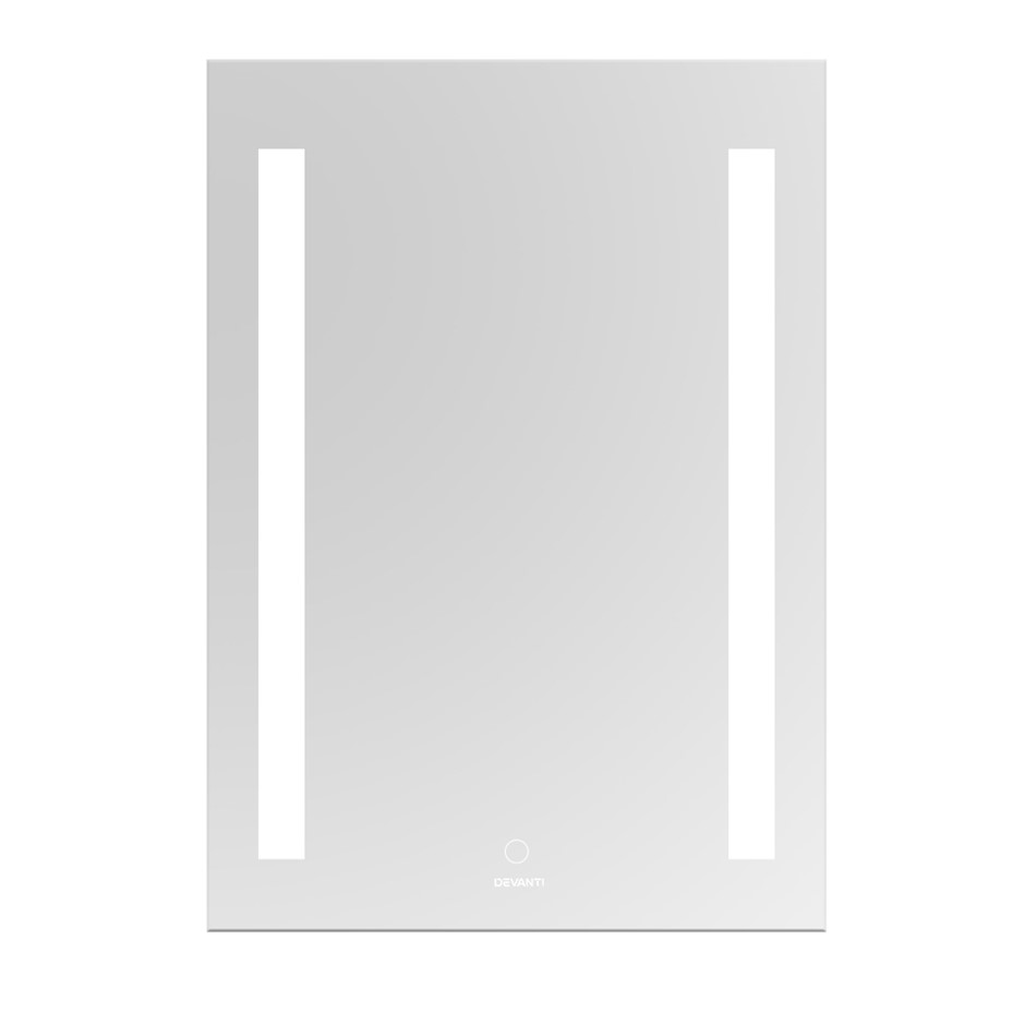 Devanti Bathroom Wall Mirror LED Light Makeup Vanity Touch Switch 700mm