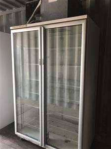 SKOPE self contained 2 glass door displa