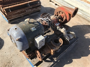 Large Water Pump Driven by 3 phase induc