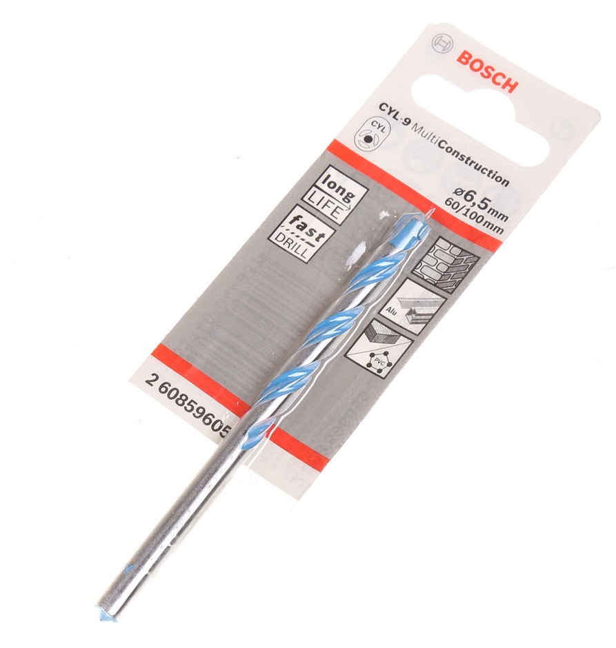 20 x BOSCH Multi-Construction Drill Bits 6.5mm x 100mm. Buyers Note - Disco