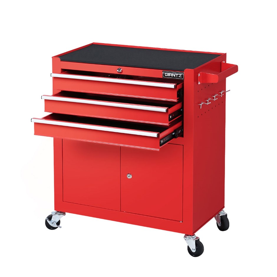 Giantz Tool Box Chest Trolley Cart Kit Cabinet Drawers Garage Toolbox Red