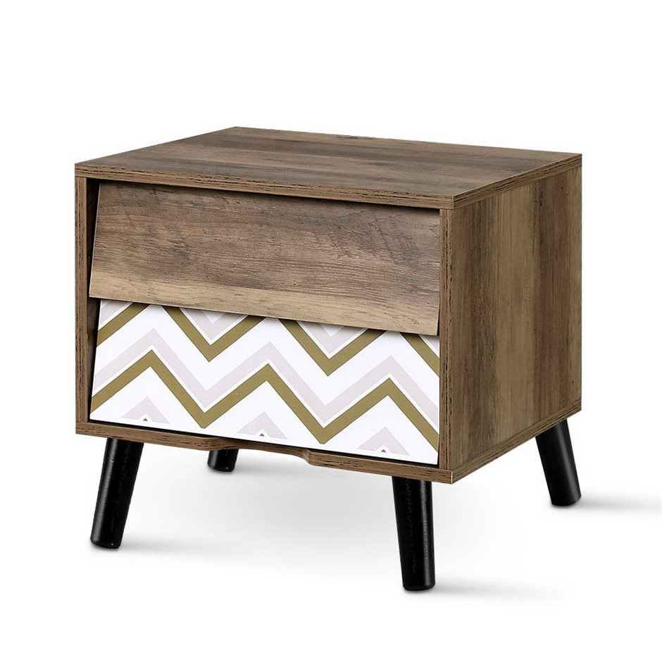 Artiss Bedside Tables 2 Drawers Table Storage Cabinet Lamp Side Wood