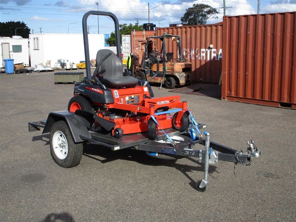 2017 Kubota Zero Turn Mower with Trailer