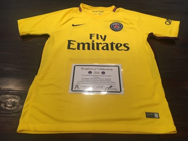 2017/18 Neymar - Paris Saint Germain FC - Personally Signed Football Jersey