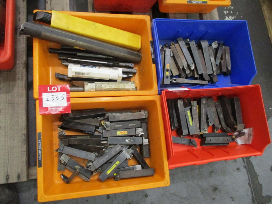 4 x Plastic Tubs of Assorted Cutting Tools