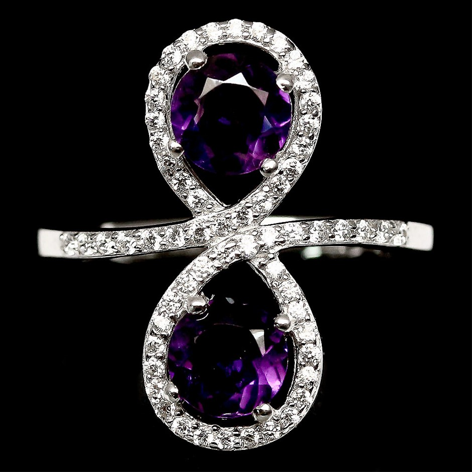 Gorgeous Genuine Amethyst Ring