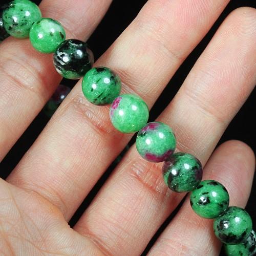 150.35Ct Natural Ruby In Zoist Beaded Bracelet