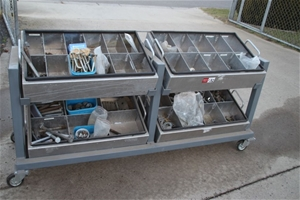 Mobile Storage Part Trolley & Content