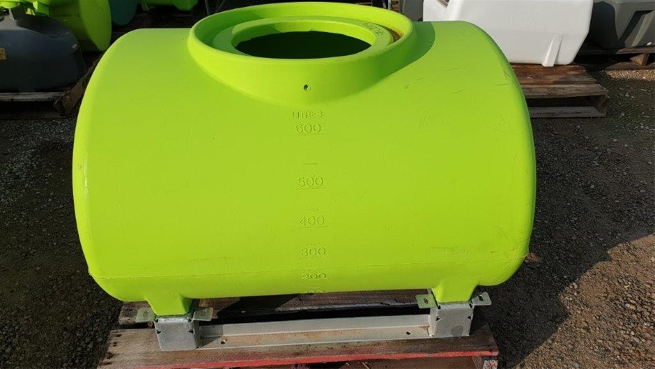 600L Poly Chemical / Water cartage Poly Tank SEC204 - Safety Green