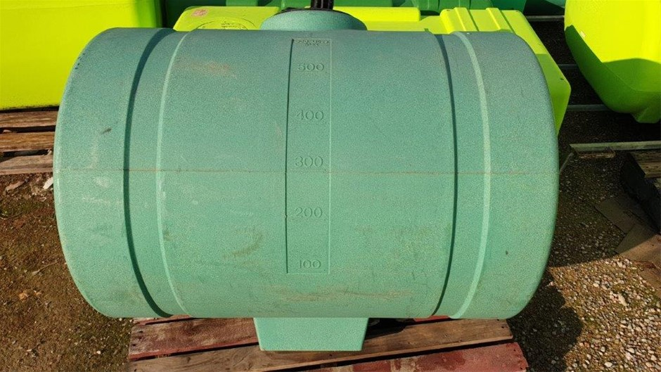 600L Poly Chemical / Water cartage Poly Sump Tank 255mm diam. screw