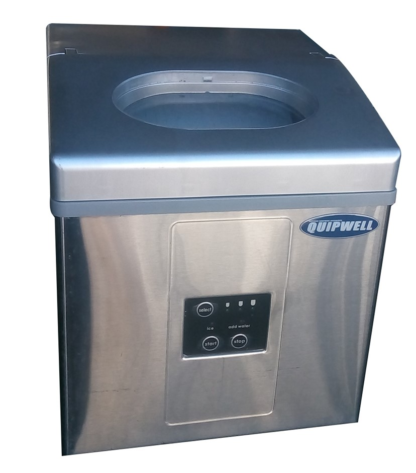 BENCH ICE MAKER UNDERCOUNTER STAINLESS STEEL CONSTRUCTION ICE MAKER